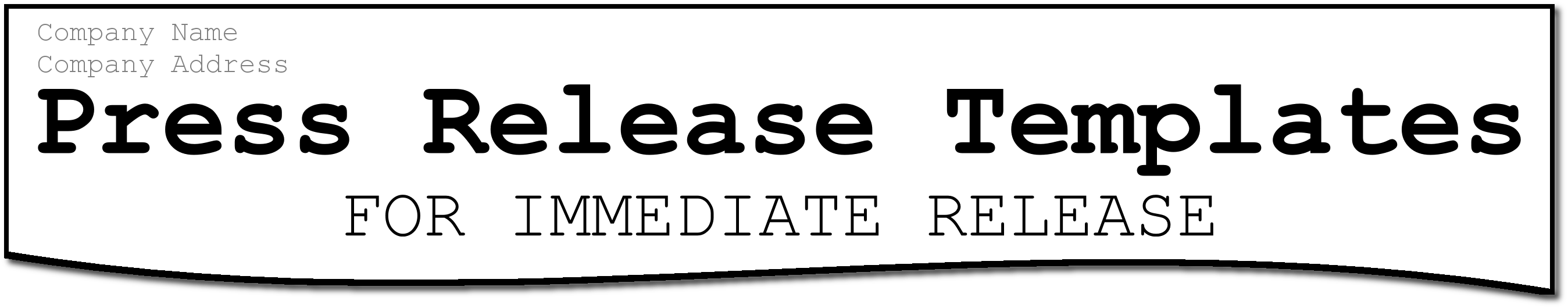 Press Release Templates